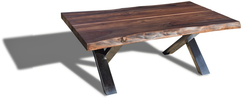 På billedet ser du Sofabord, Steel The Beast fra brandet OBUZI i en størrelse H: 47 cm. B: 75 cm. L: 120 cm. i farven Mørk Natur/Sort