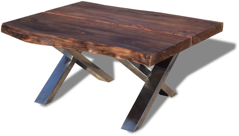 På billedet ser du variationen Sofabord, Steel The Beast fra brandet OBUZI i en størrelse H: 47 cm. B: 75 cm. L: 100 cm. i farven Mørk Natur/Sort