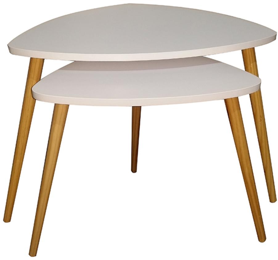 På billedet ser du variationen Sofabord, Tino fra brandet Preform i en størrelse Sæt á 2 stk. i farven Natur/Hvid