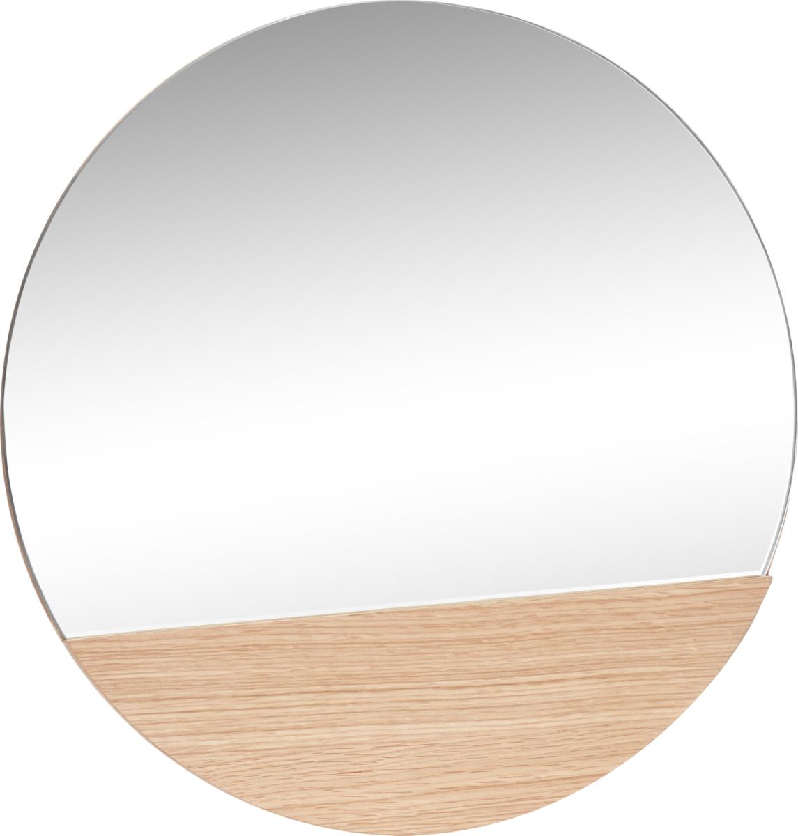 På billedet ser du variationen Spejl, Round, Alterhu fra brandet Hübsch i en størrelse D: 50 cm. i farven Natur