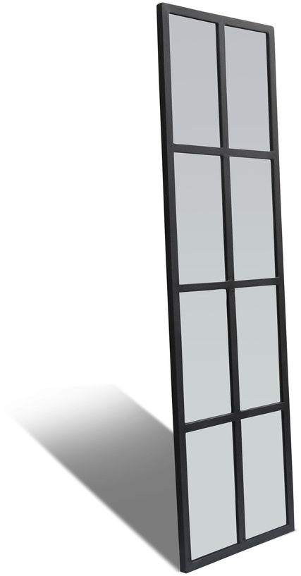 På billedet ser du variationen Spejl, Factoria fra brandet OBUZI i en størrelse H: 160 cm. B: 45 cm. L: 2,5 cm. i farven Sort