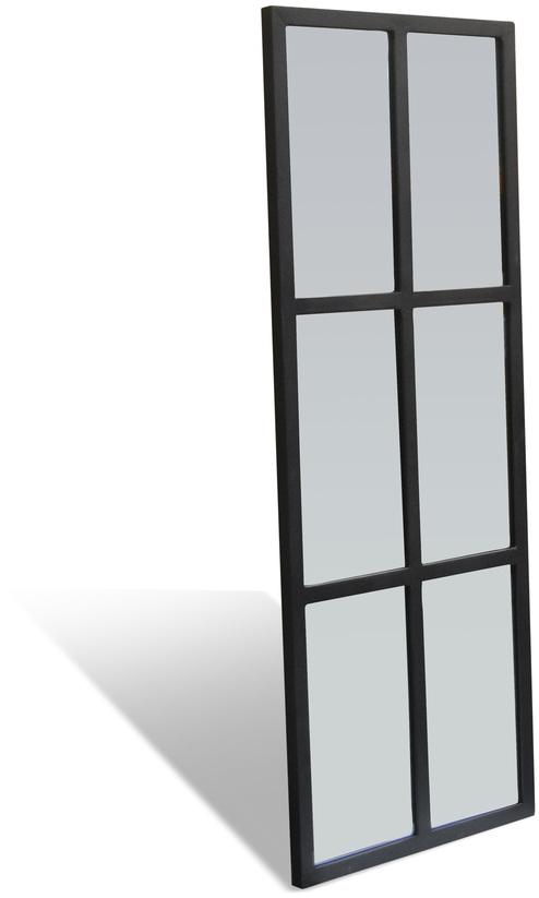 På billedet ser du variationen Spejl, Factoria fra brandet OBUZI i en størrelse H: 120 cm. B: 45 cm. L: 2,5 cm. i farven Sort