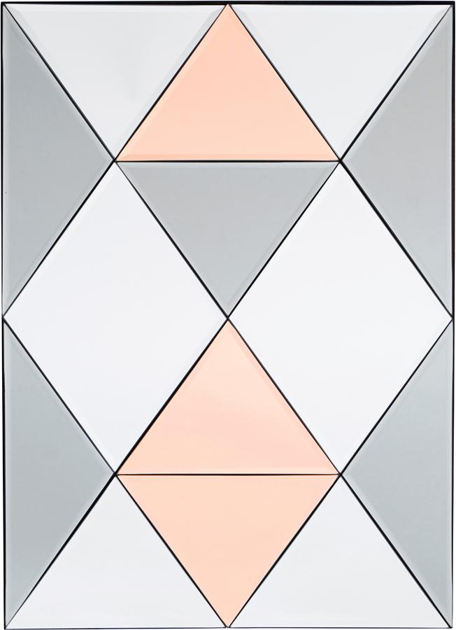 På billedet ser du variationen Spejl, Rhomb fra brandet House Doctor i en størrelse H: 70 cm. B: 50 cm. i farven Glas
