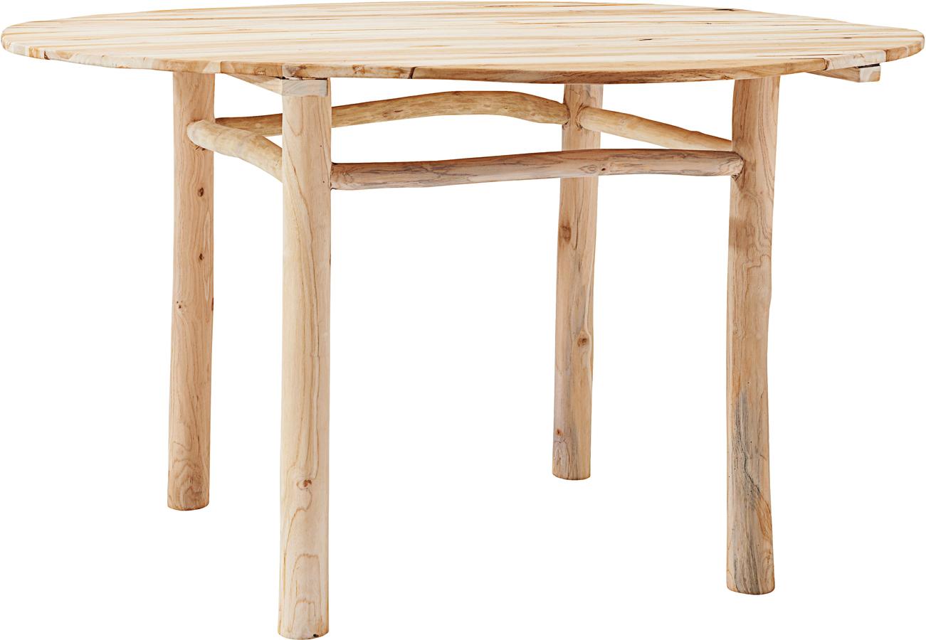 På billedet ser du variationen Spisebord, Teaky fra brandet House Doctor i en størrelse D: 130 cm. H: 74 cm. i farven Natur