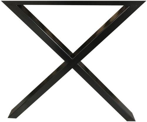 På billedet ser du variationen Stel til plankeborde, X base fra brandet Preform i en størrelse H: 71 cm. B: 70 cm. L: 15 cm. i farven Sort