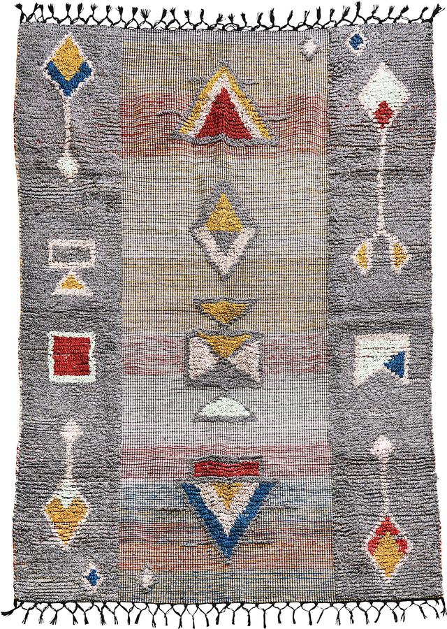 På billedet ser du variationen Tæppe, Amara fra brandet House Doctor i en størrelse B: 140 cm. L: 200 cm. i farven Grå