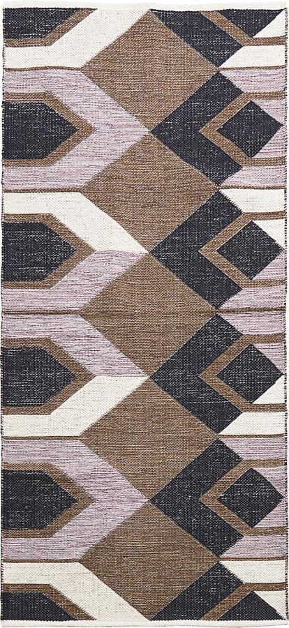 På billedet ser du variationen Tæppe, Art fra brandet House Doctor i en størrelse B: 90 cm. L: 213 cm. i farven Base/Grå