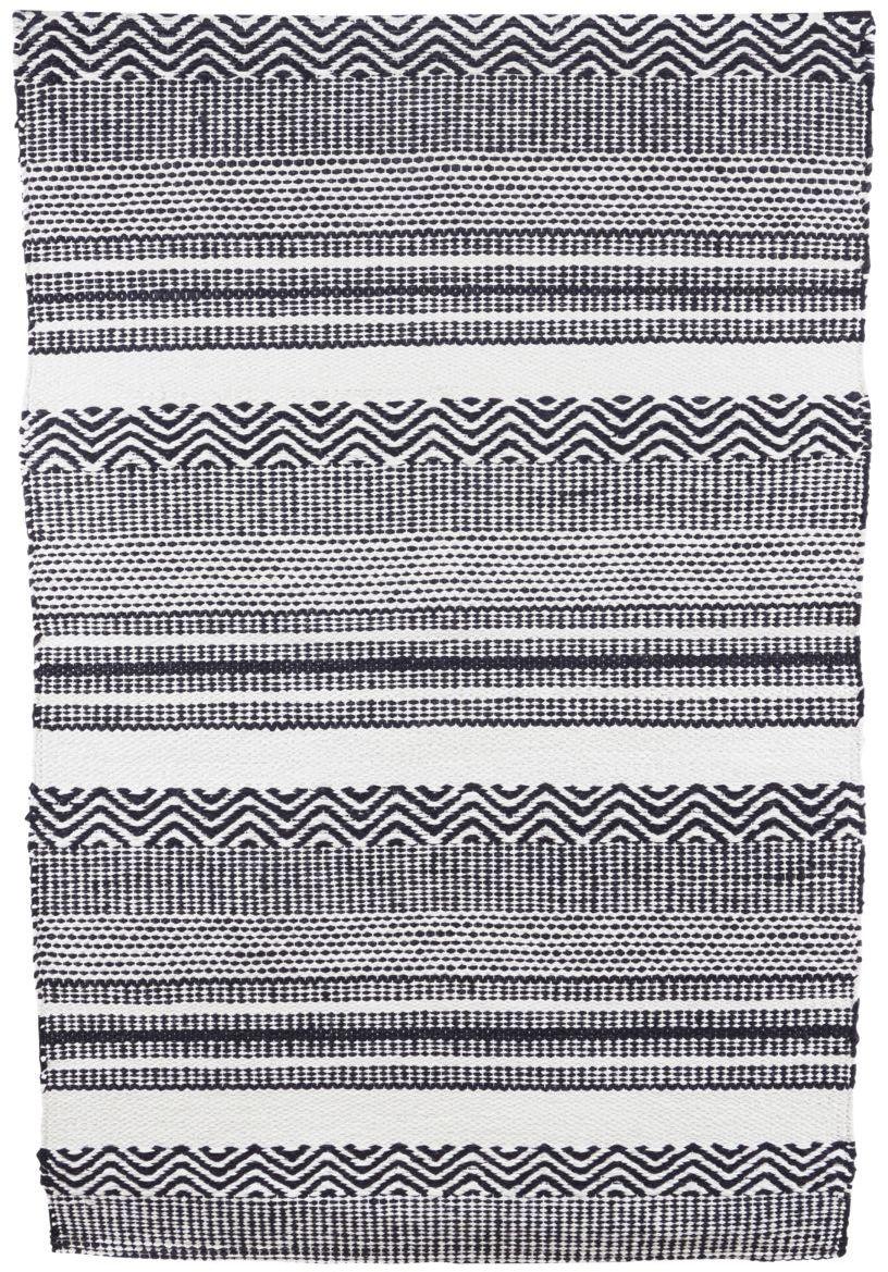 På billedet ser du variationen Tæppe, Inka fra brandet House Doctor i en størrelse 60 x 90 cm. i farven Sort/Hvid