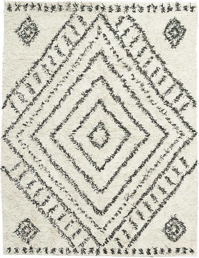 På billedet ser du variationen Tæppe, Nubia fra brandet House Doctor i en størrelse B: 160 cm. L: 210 cm. i farven Hvid