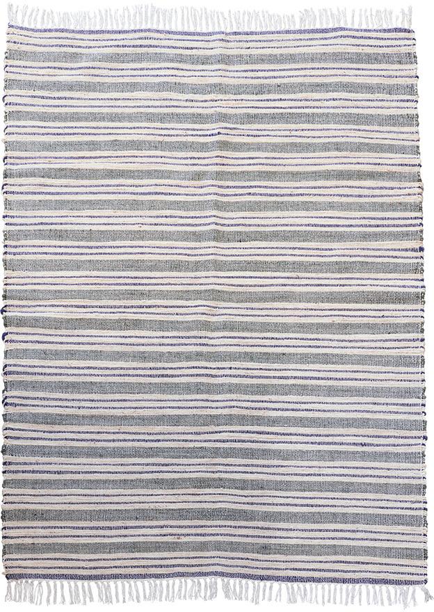 På billedet ser du variationen Tæppe, Rami fra brandet House Doctor i en størrelse 140 x 200 cm. i farven Grå/Hvid