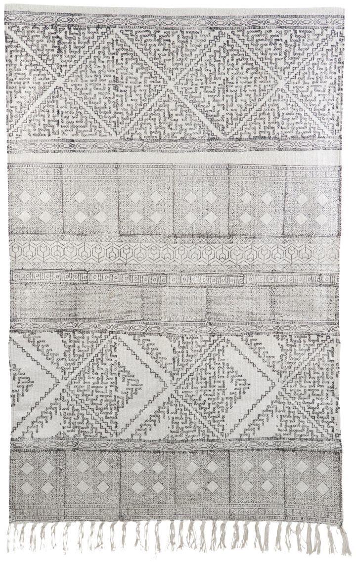 På billedet ser du Tæppe, Spring fra brandet House Doctor i en størrelse 70 x 240 cm. i farven Sort/Hvid