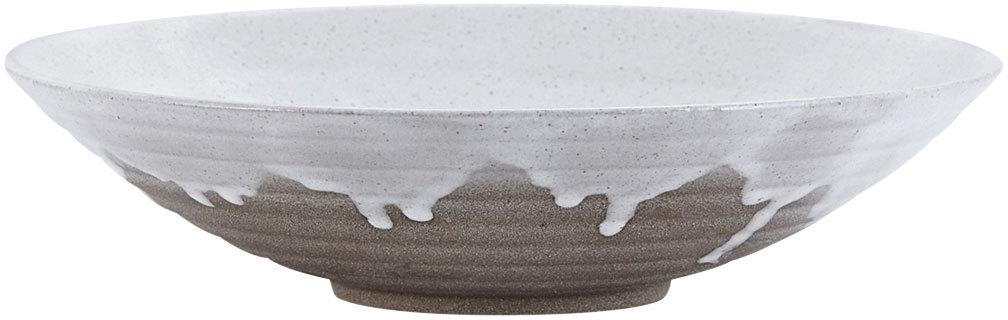På billedet ser du variationen Running Glaze, Tallerken fra brandet House Doctor i en størrelse D: 23,5 cm. x H: 6 cm. i farven Hvid/Grå