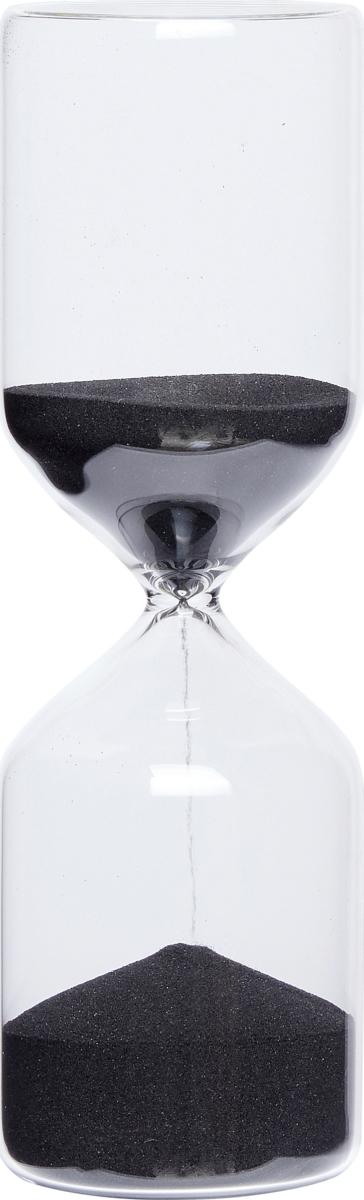 På billedet ser du variationen TimeTerra fra brandet Hübsch i en størrelse D: 8 cm. H: 25 cm. 1 time i farven Klar/Sort