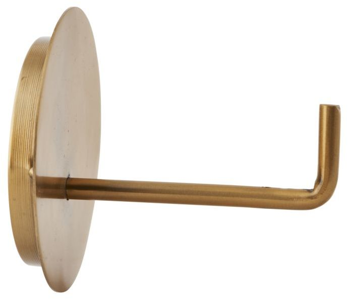 På billedet ser du variationen Text, Toiletpapirholder fra brandet House Doctor i en størrelse D: 13 cm. x L: 12,5 cm. i farven Messing