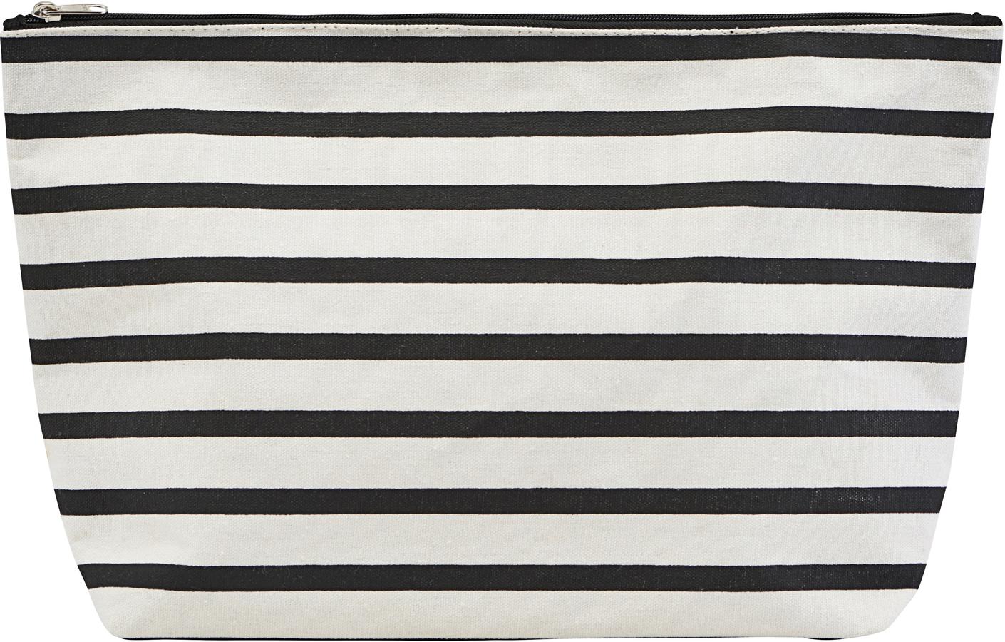 På billedet ser du variationen Toilettaske, Stripes fra brandet House Doctor i en størrelse H: 20 cm. B: 8 cm. L: 32 cm. i farven Sort/Hvid