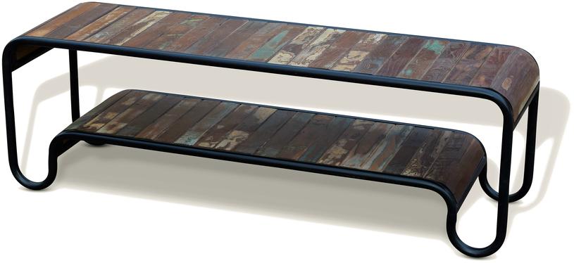 På billedet ser du variationen Tv-bænk, Christiania Hip fra brandet OBUZI i en størrelse H: 50 cm. B: 150 cm. L: 40 cm. i farven Multi