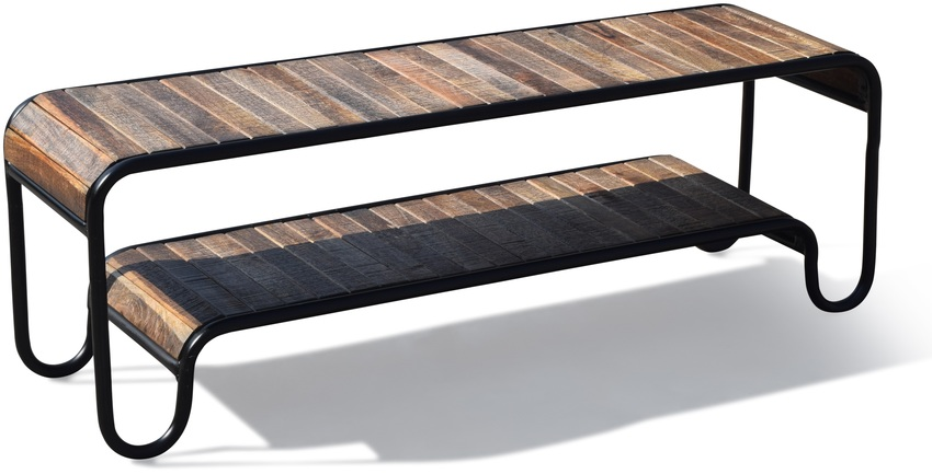 På billedet ser du variationen Tv-bænk, Christiania Raw fra brandet OBUZI i en størrelse H: 50 cm. B: 140 cm. L: 40 cm. i farven Mørk Natur/Sort