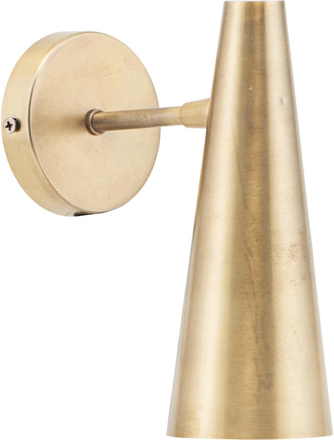 På billedet ser du variationen Væglampe, Precise, Messing finish fra brandet House Doctor i en størrelse L: 21 cm. i farven Messing