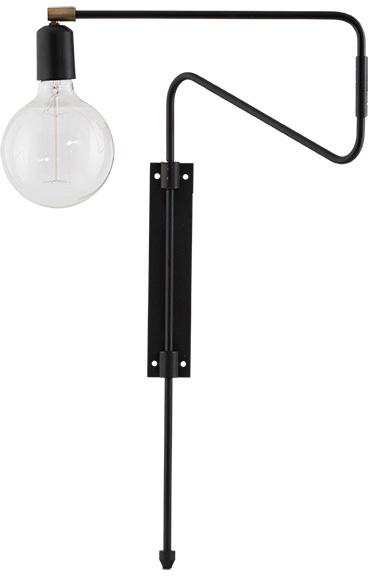 På billedet ser du variationen Swing, Væglampe fra brandet House Doctor i en størrelse L: 35 cm. i farven Sort