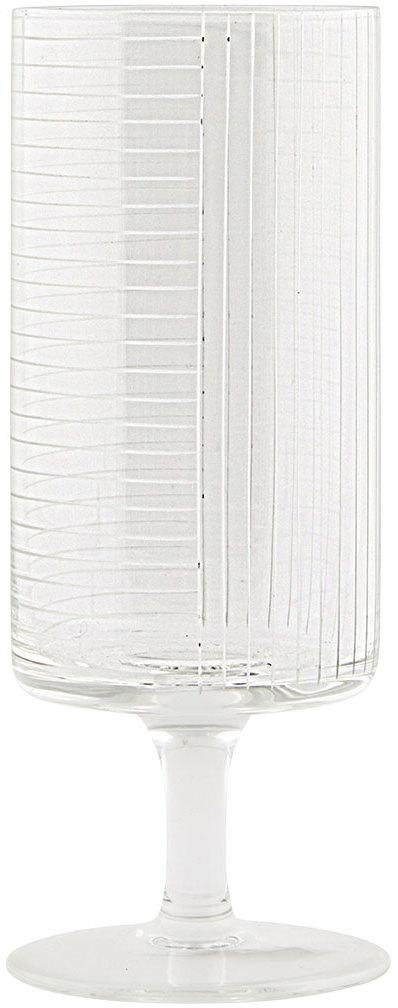 På billedet ser du variationen Check, Vand/ølglas fra brandet House Doctor i en størrelse D: 7 cm. x H: 18 cm. i farven Klar