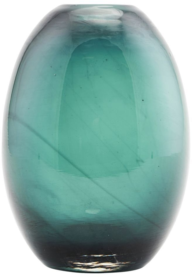 På billedet ser du variationen Ball, Vase fra brandet House Doctor i en størrelse D: 10 cm. x H: 15 cm. i farven Blå/Grøn