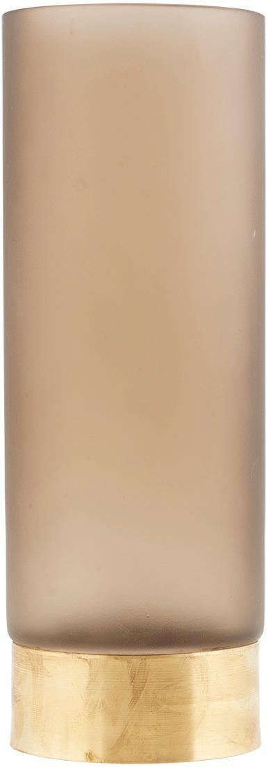 På billedet ser du variationen Base, Vase fra brandet House Doctor i en størrelse D: 10 cm. x H: 28 cm. i farven Lysebrun/Guld