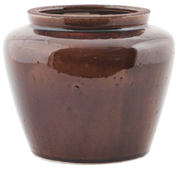 På billedet ser du variationen Cone, Vase fra brandet House Doctor i en størrelse D: 18,5 cm. x H: 15,5 cm. i farven Brun