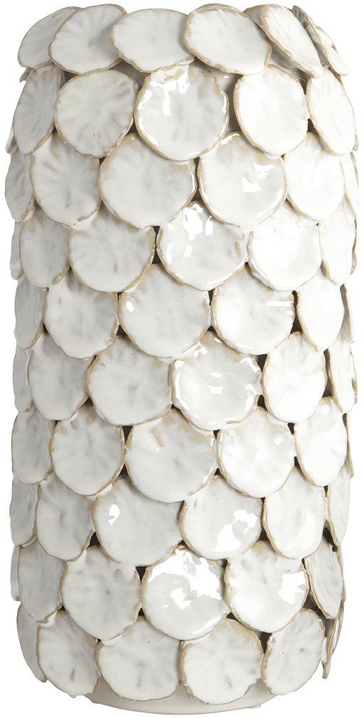 På billedet ser du variationen Dot, Vase, High fra brandet House Doctor i en størrelse D: 15 cm. x H: 30 cm. i farven Hvid