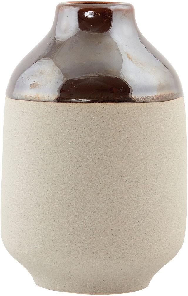 På billedet ser du variationen Earth, Vase fra brandet House Doctor i en størrelse D: 10 cm. x H: 15 cm. i farven Brun