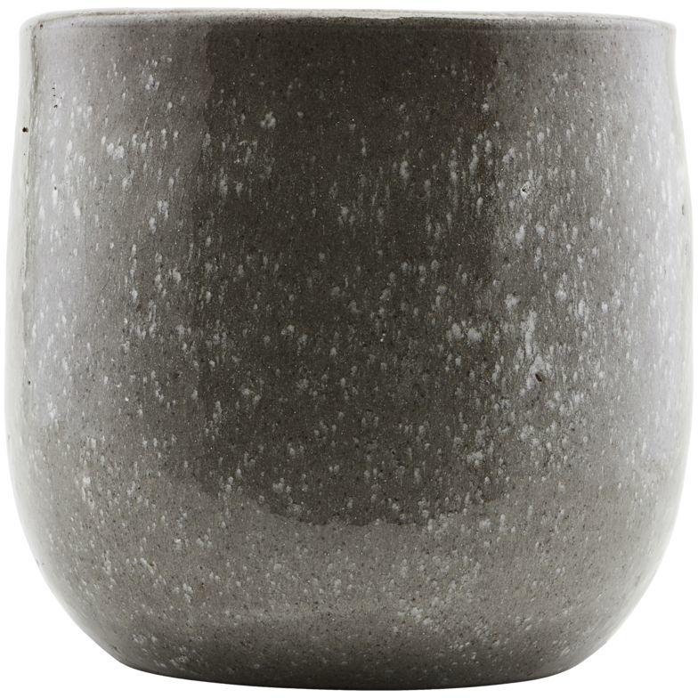 På billedet ser du variationen Earth, Vase, Grå fra brandet House Doctor i en størrelse D: 24 cm. x H: 22 cm. i farven Grå