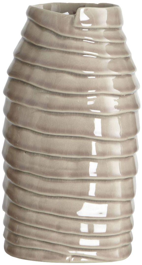 På billedet ser du variationen Layers, Vase fra brandet House Doctor i en størrelse 11,5 x 11,5 cm. x H: 21 cm. i farven Grå