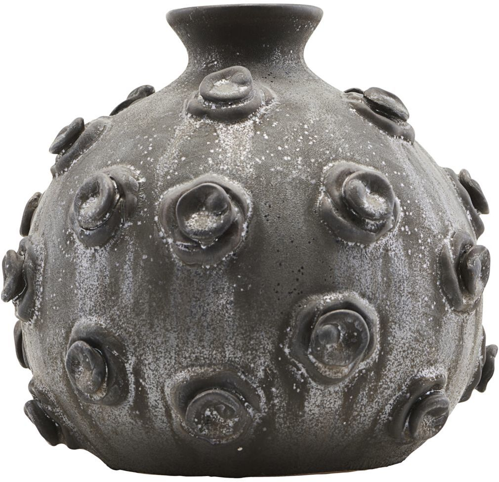 På billedet ser du variationen Marv, Vase fra brandet House Doctor i en størrelse D: 23 cm. x H: 20 cm. i farven Sort