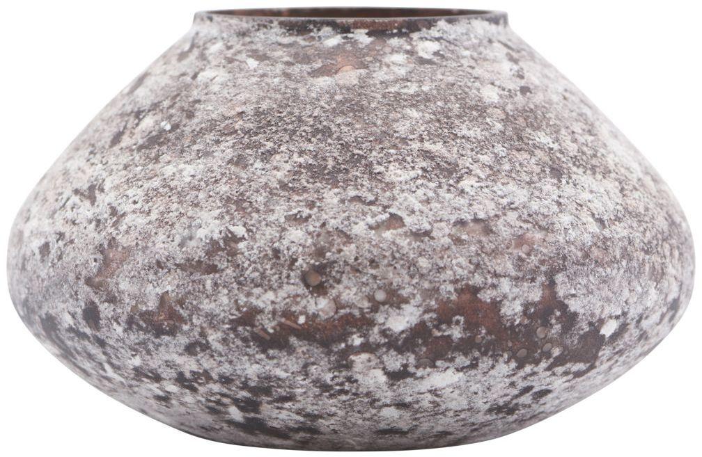 På billedet ser du variationen Vase, Miles fra brandet House Doctor i en størrelse D: 13,5 cm. H: 8 cm. i farven Brun