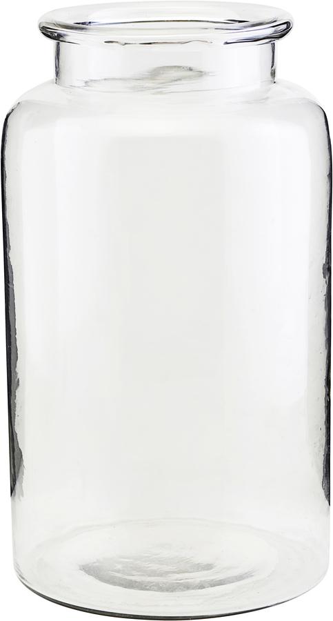 På billedet ser du variationen Vase, Nete fra brandet House Doctor i en størrelse D: 19 cm. H: 33 cm. i farven Glas