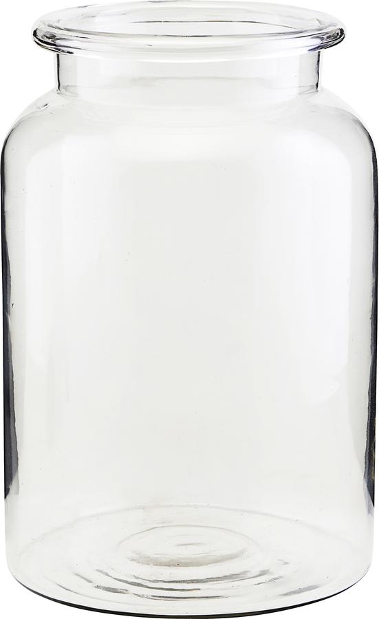 På billedet ser du variationen Vase, Nete fra brandet House Doctor i en størrelse D: 18 cm. H: 28 cm. i farven Glas