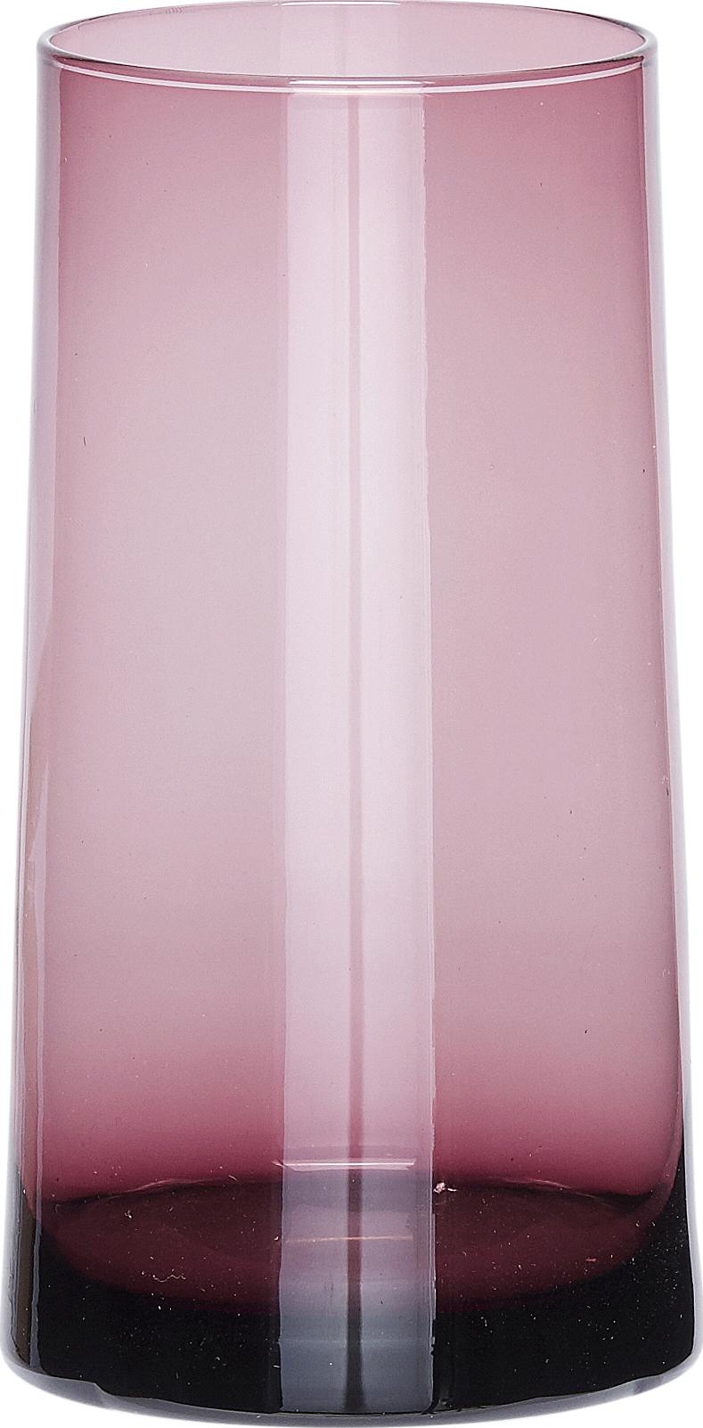 På billedet ser du variationen Vase, Ming fra brandet Hübsch i en størrelse Ø: 7 cm. H: 16 cm. i farven Rosa