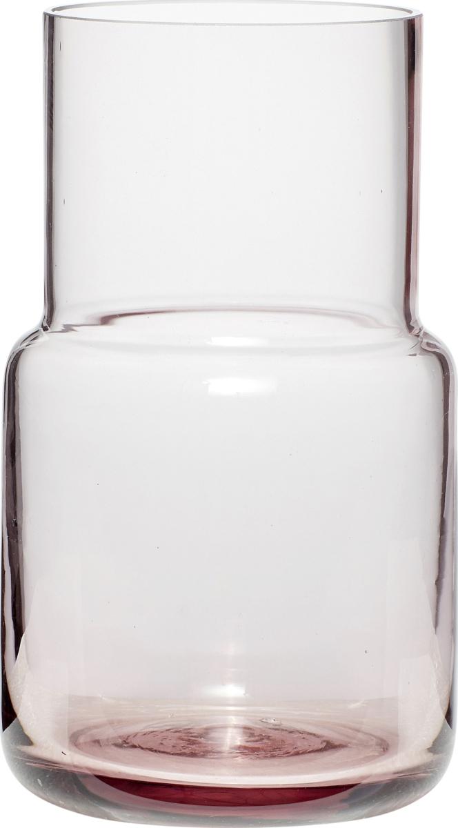 På billedet ser du variationen Vase, Shun fra brandet Hübsch i en størrelse Ø: 11 cm. H: 17 cm. i farven Rosa