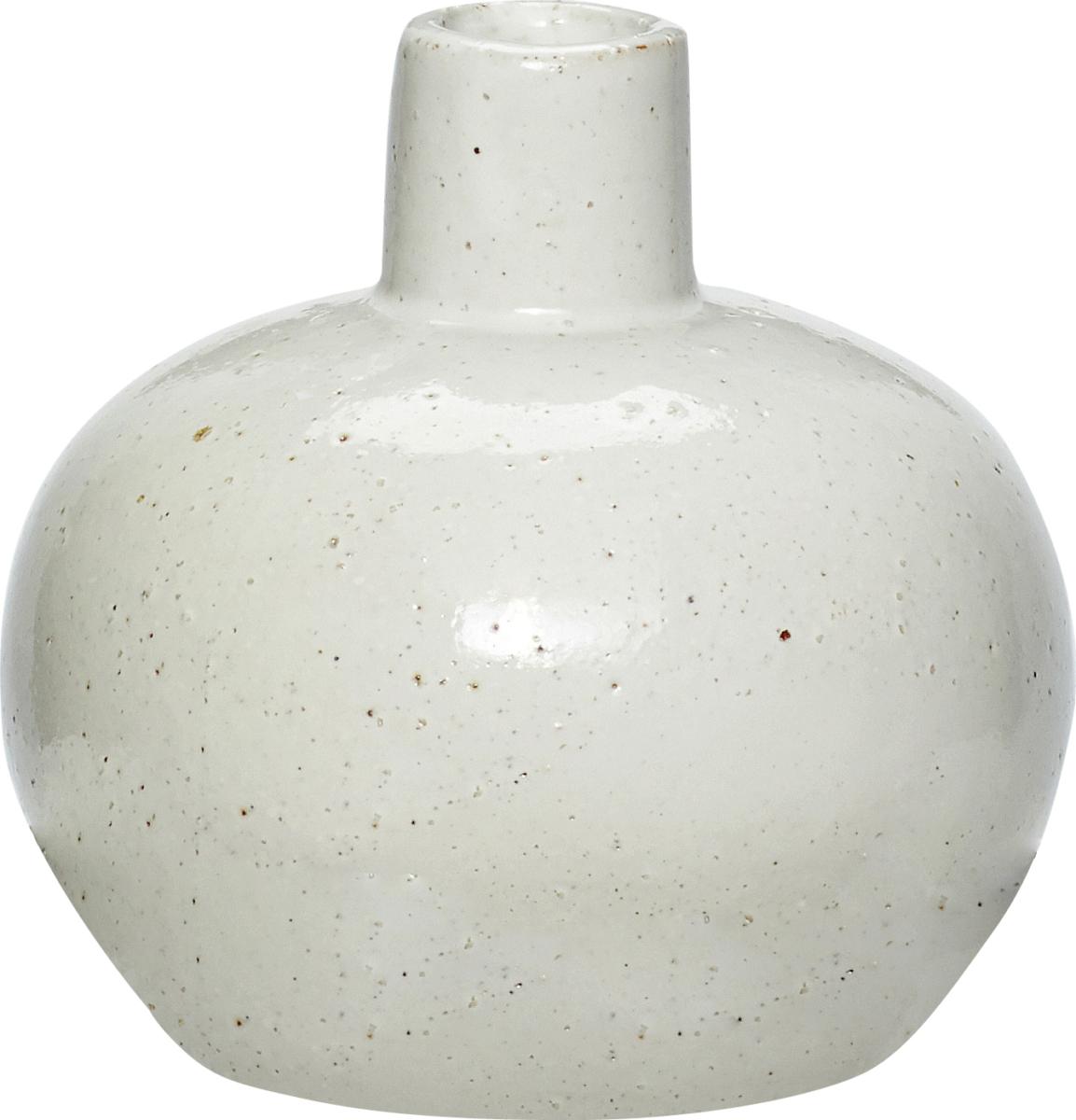 På billedet ser du variationen Vase, Rong fra brandet Hübsch i en størrelse Ø: 12 cm. H: 11 cm. i farven Hvid