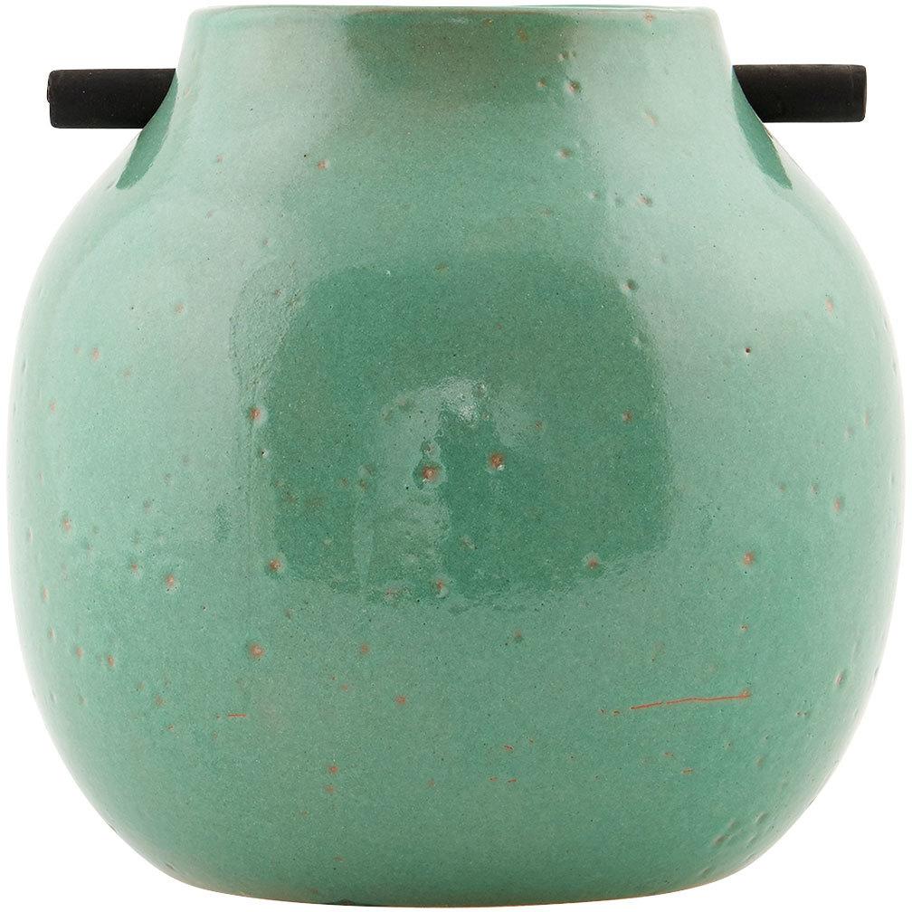 På billedet ser du variationen Woody, Vase fra brandet House Doctor i en størrelse D: 17 cm. x H: 17 cm. i farven Grøn