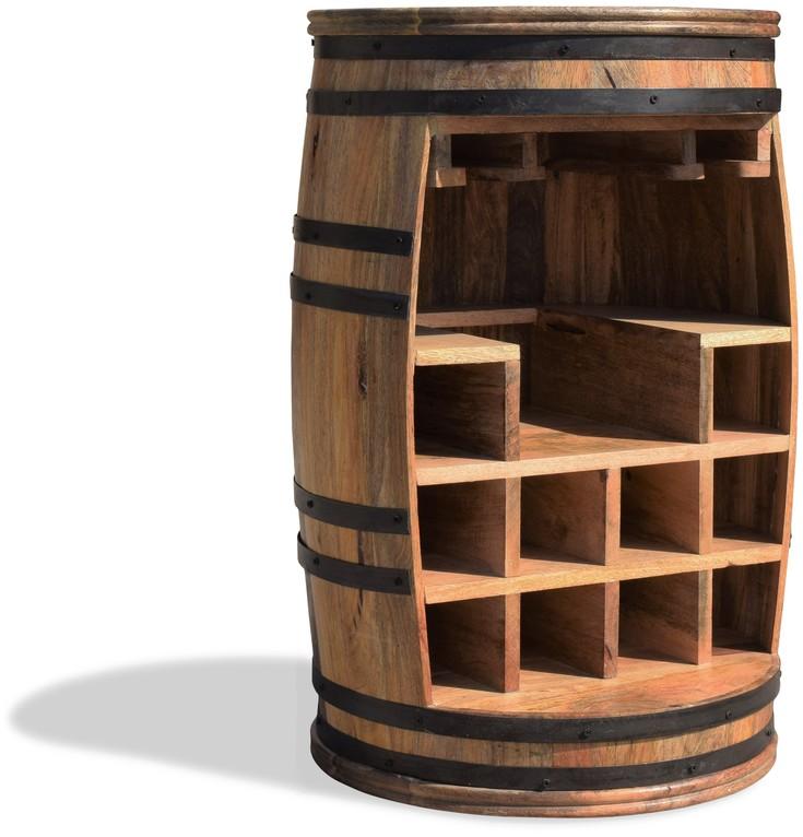 På billedet ser du Vintønde barskab, Rosey-Say Raw fra brandet OBUZI i en størrelse D: 55 cm. H: 80 cm. i farven Natur/Sort