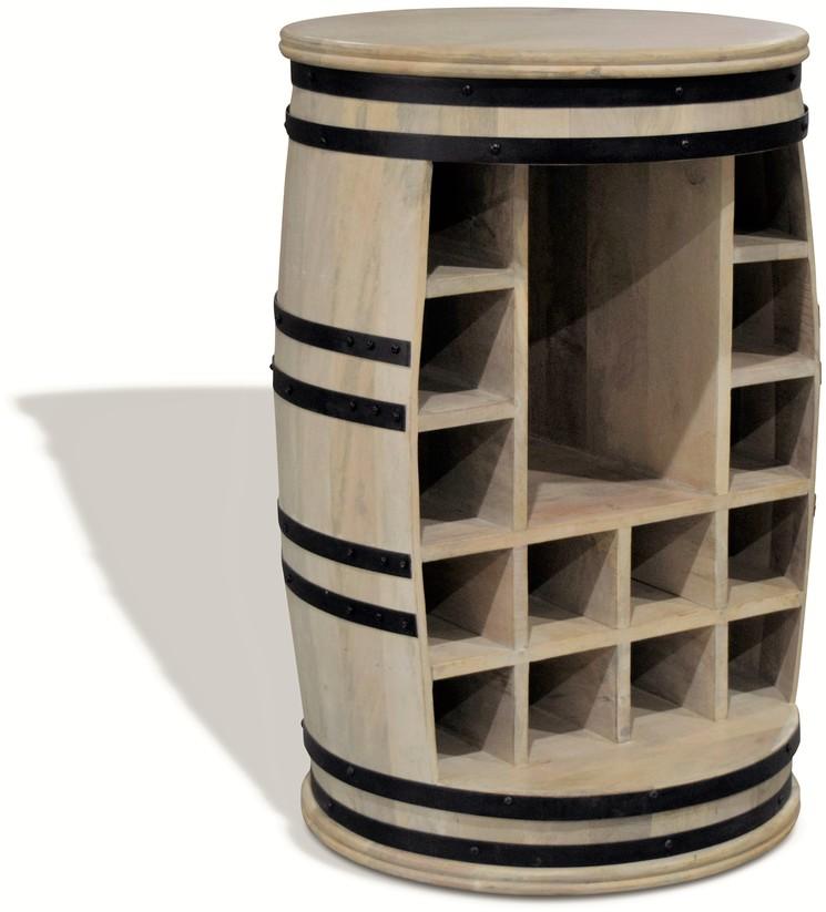 På billedet ser du Vintønde barskab, Rosey Manga-Jo fra brandet OBUZI i en størrelse D: 55 cm. H: 80 cm. i farven Hvid/Sort