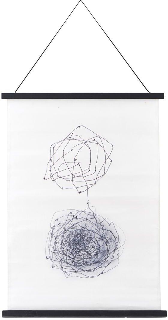 På billedet ser du variationen Wall art, Knot fra brandet House Doctor i en størrelse 50 x 70 cm. i farven Hvid