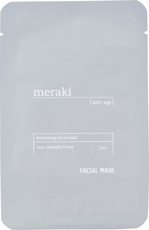 På billedet ser du variationen Ansigtsmaske, anti-age fra brandet Meraki i en størrelse 1 STK./PKG. i farven Grå