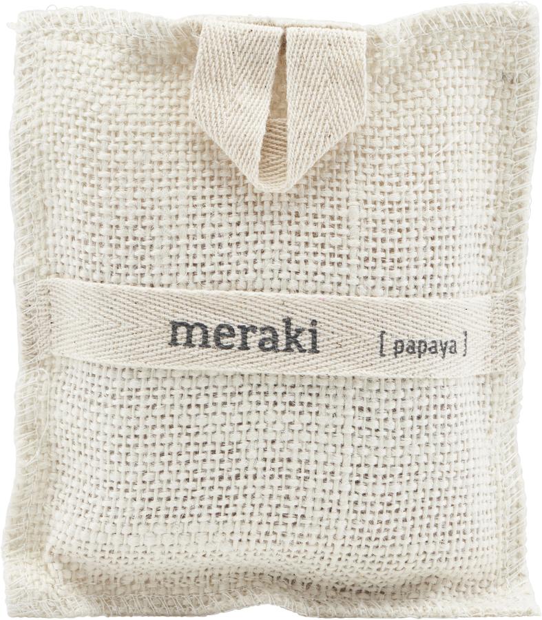 På billedet ser du variationen Bath Mitt, Papaya fra brandet Meraki i en størrelse H: 22 cm. L: 15 cm. i farven Elfenben