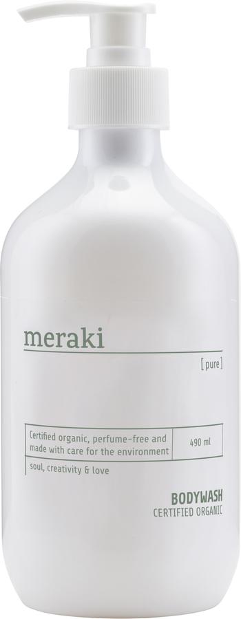 På billedet ser du variationen Body wash, Pure fra brandet Meraki i en størrelse 490 ML. i farven Hvid