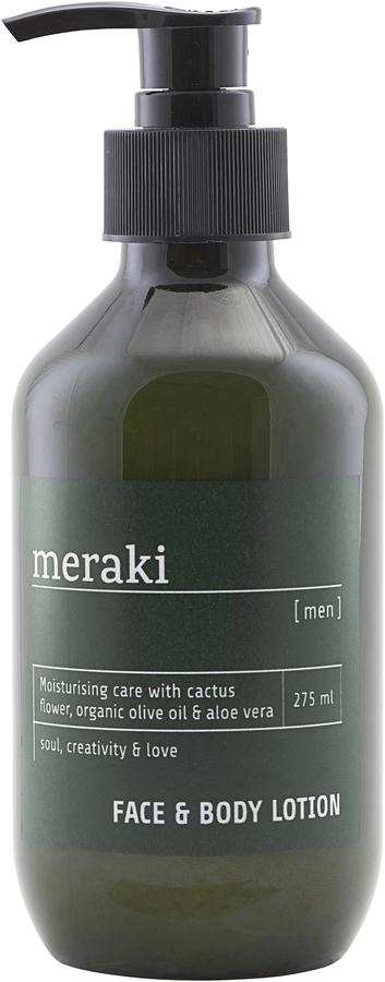 På billedet ser du variationen Face & body lotion, Men fra brandet Meraki i en størrelse 275 ML. i farven Sort