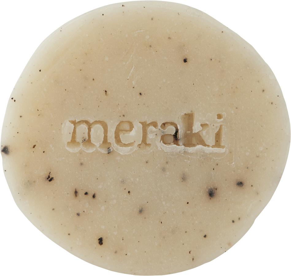 På billedet ser du variationen Håndsæbe, Sesame Scrub fra brandet Meraki i en størrelse 20 G. i farven Elfenben