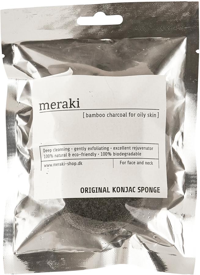 På billedet ser du variationen Konjac Svamp, fedtet hudtype fra brandet Meraki i en størrelse H: 2,5 cm. L: 9 cm. i farven Sølv