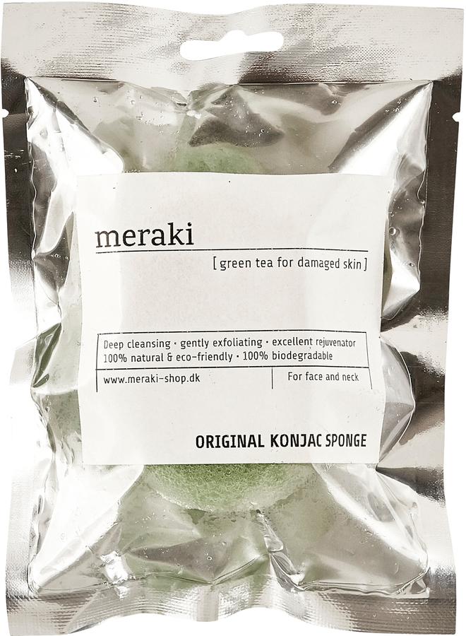 På billedet ser du variationen Konjac Svamp, tør fra brandet Meraki i en størrelse H: 2,5 cm. L: 9 cm. i farven Sølv