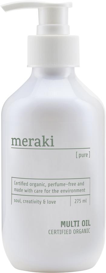 På billedet ser du variationen Multi olie, Pure fra brandet Meraki i en størrelse 275 ML. i farven Hvid